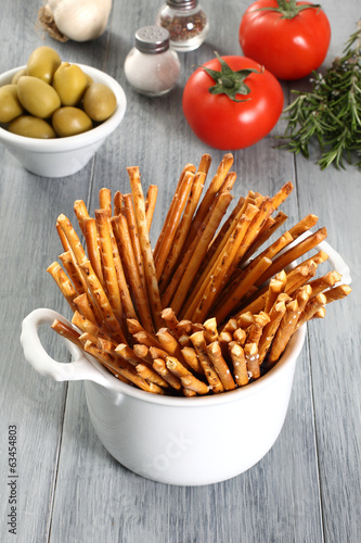 sticks di pane cotti al forno