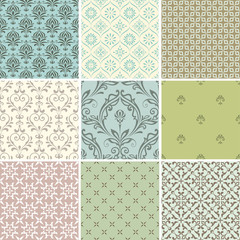 Damask Seamless Patterns