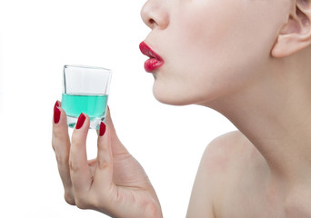 Magic potion with woman