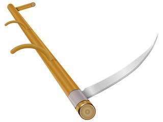 Scythe garden tool