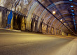 canvas print picture - Road tunnel, lit - no traffic