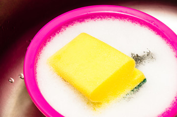 yellow scourer