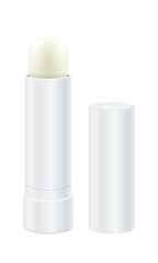 Lip balm vector illustration. Light lip stick.