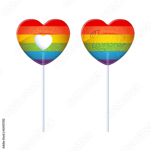 Rainbow lollipops.