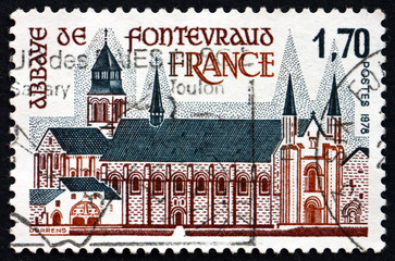 Postage stamp France 1978 Fontevraud Abbey, Anjou