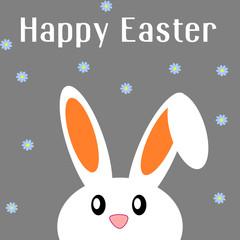 Cartolina d'auguri di Pasqua con coniglio