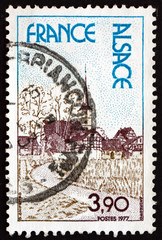Postage stamp France 1977 Alsace, Region in France