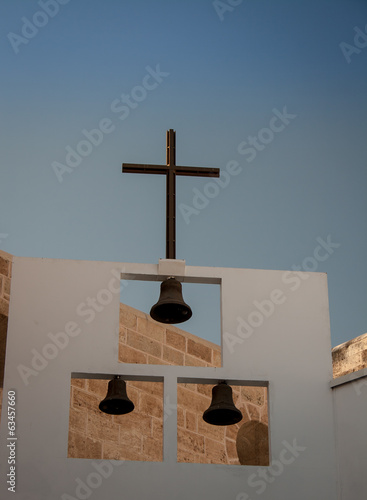 church cross and bells