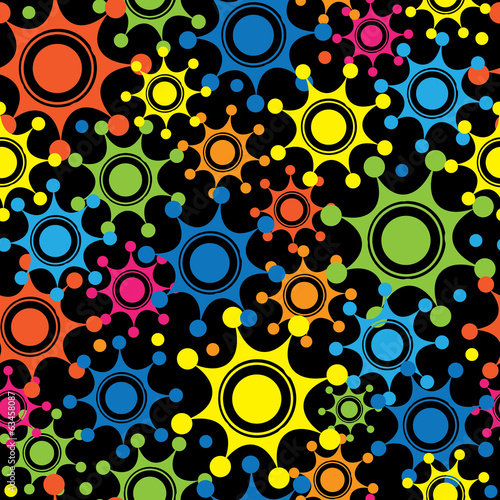 multicolored flowers seamless pattern