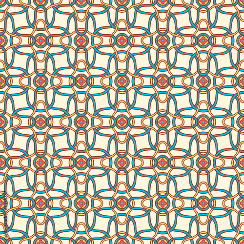 color abstract pattern with small flowers