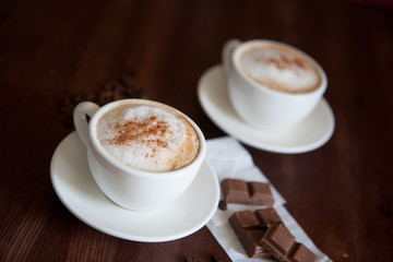 Capuchino with chocolate