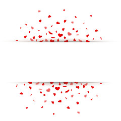 Karte mit Herzkonfetti
