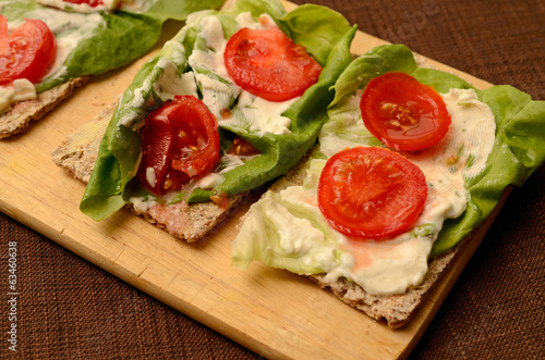 Healthy bread with vegetables