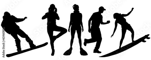 Vector silhouette of sport.