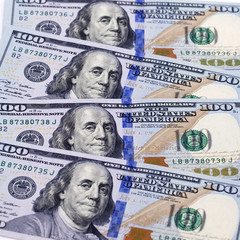 New banknote hundred dollars