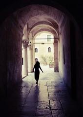 Silhouette In Norman-Swabian Castle, Old Bari