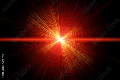 Zdjęcia na płótnie, fototapety, obrazy : Red laser ray
