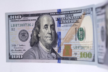 New banknote hundred dollars