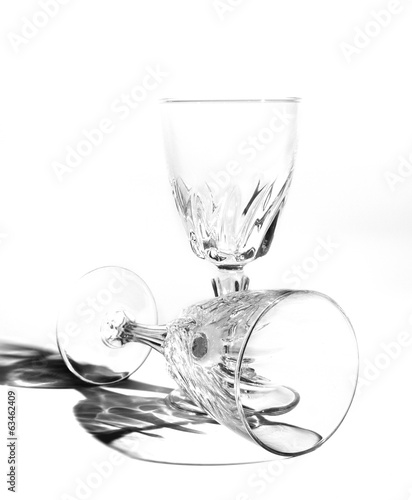 Wine glass still life isolated