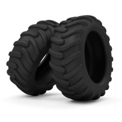 Tractor Tires isolated on white background