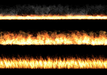 Drei Feuerwände
