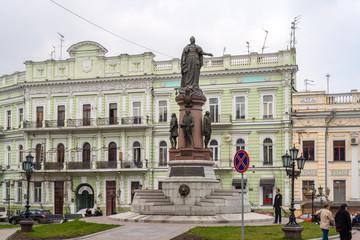 Monument to empress Catherine. Odessa, Ukraine