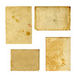 canvas print picture - Set of  old photo paper texture isolated on white background
