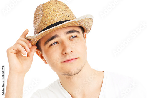 Man in a summer hat