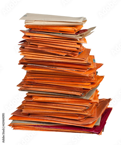 Stack of old envelopes
