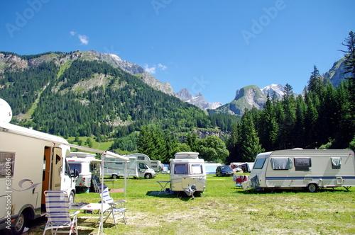 Poster Alpen camping-parc de la vanoise-savoie