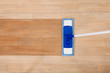 Mop cleaning a wooden floor - 63465424