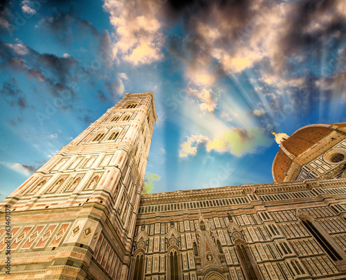 Facade of the Basilica of Saint Mary of the Flower in Florence a