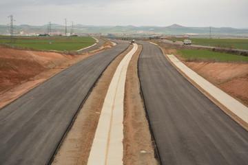 Nueva autovia en construccion en la Rioja