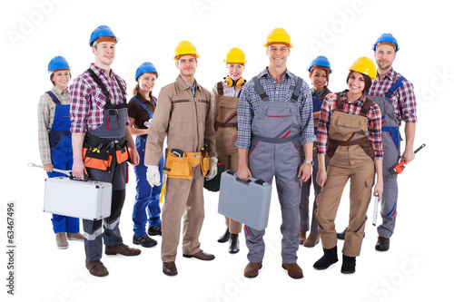 Large group of diverse workers - 63467496