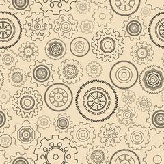 Seamless gear wheels pattern