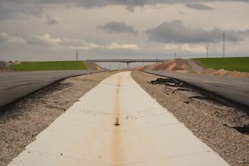 Carretera nueva en construccion