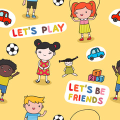 Seamless kids background