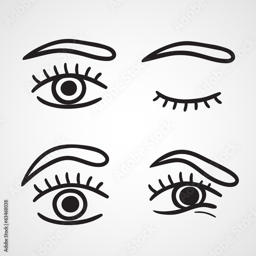 Eyes icons design