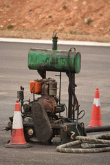 Motor de generador de obra en carretera