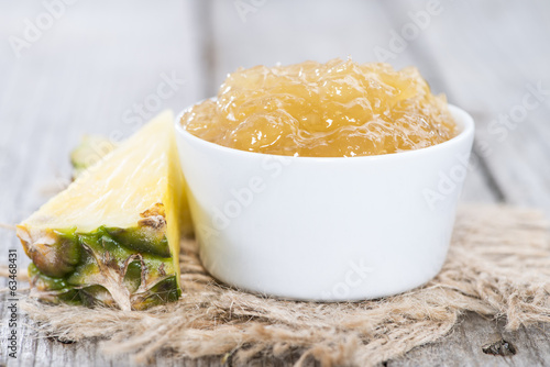 Bowl with Pineapple Jam