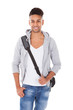 Handsome Student Carrying Shoulder Bag