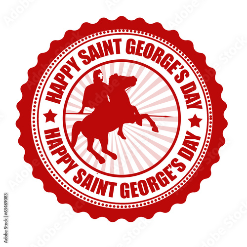 Happy Saint George's Day stamp