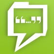 Speech bubble with green color background