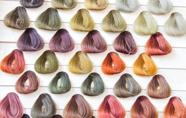 Palette hair samples