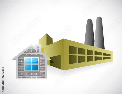 home factory illustration design