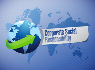 corporate social responsibility globe sign