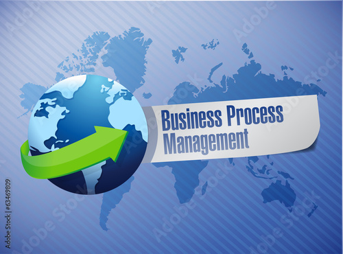 business process management globe sign