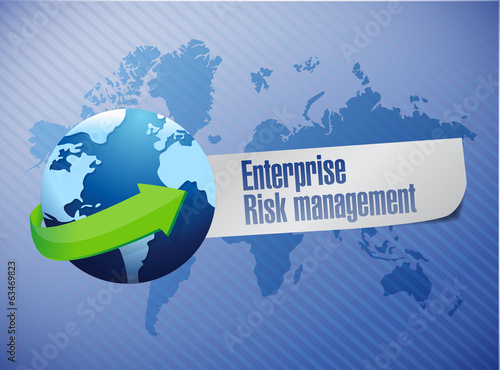 enterprise risk management globe sign illustration