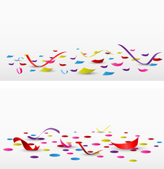 celebration confetti set on white background