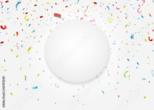 celebration with colorful confetti